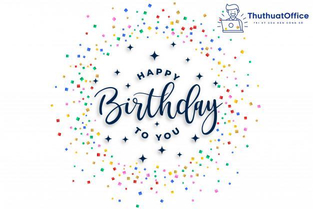Chúc mừng sinh nhật đồng nghiệp