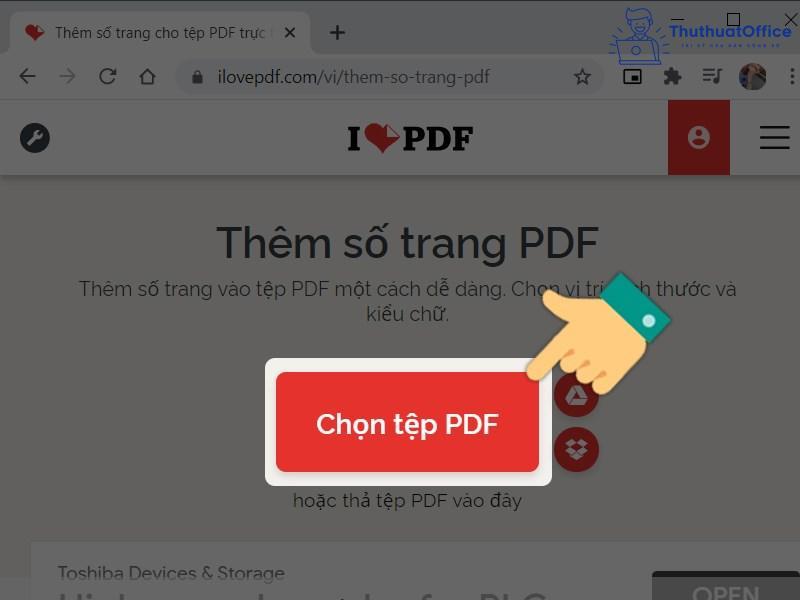 Đánh số trang PDF 11